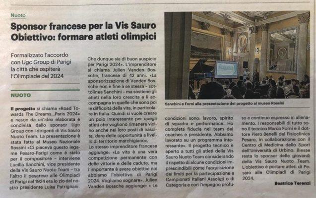 Sponsor francese per la Vis Sauro