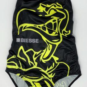 Costume BAMBINA Vis Sauro 2019 nero logo giallo fluo modello Giorgia